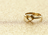 gold heart shaped ring for St. Valentines Day holiday