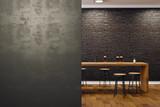 Contemporary black bar interior - 189939352