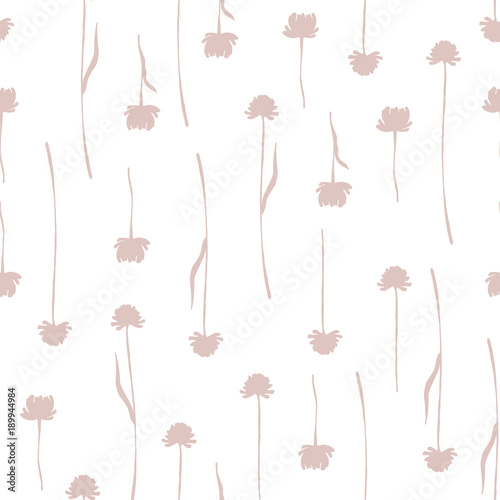 Seamless pattern with hand drawn branches. - 189944984