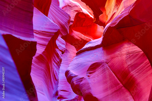Foto Spatwand Rood paars Antelope canyon