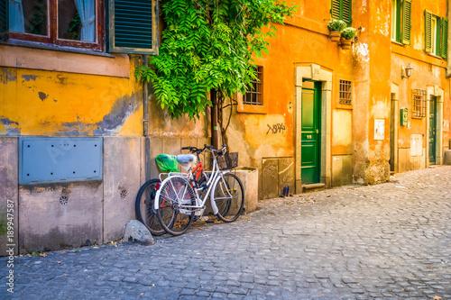 Deurstickers Rome street in Trastevere, Rome, Italy