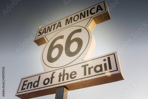 Plexiglas Route 66 fin de la route 66.
