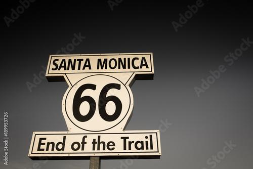 Foto op Plexiglas Route 66 arrivée de la route 66