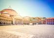 Quadro Piazza del Plebiscito, Naples Italy