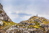 Man on top of the hill in Bergen, Norway - 189964117