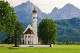 Barocke Wallfahrtskirche Sankt Coloman, Schwangau Alpen, Allgäu in Bayern - 189972546