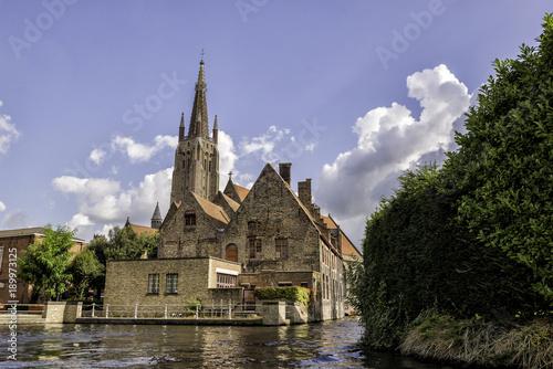 Fotobehang Brugge Beautiful Canals Belgium / Europe