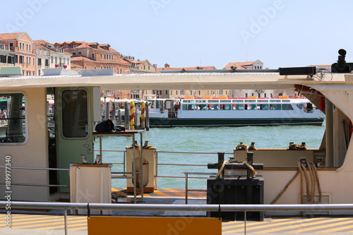 Aluminium special boat for the transport of tourists on the island of Venice in Italy