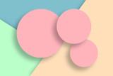 Pastel colored modern minimalistic illustration