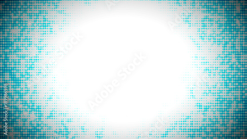blue abstract background with small circles