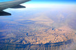 Aerial view of Hajjar Mountains in Oman.