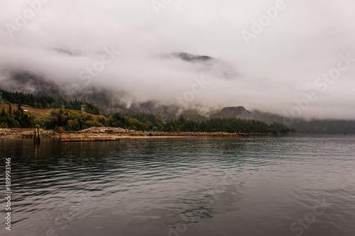 Fotobehang Zeilen Segeln in Squamish