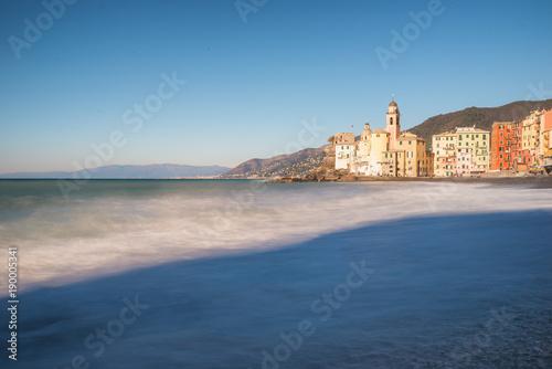 Aluminium Liguria Camogli, very nice town in Genoa Province, winter morning view