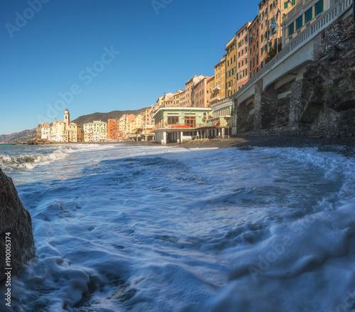 Poster Liguria Camogli, very nice town in Genoa Province, Italy