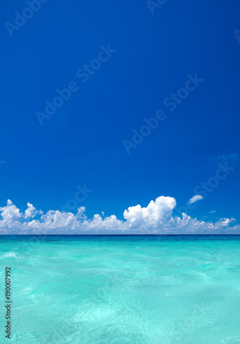 Fotobehang Turkoois beach and tropical sea