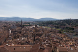 Florentine cityscape with red roofs in a sunny day, Tuscany, Italy. - 190014596