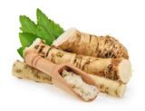Horseradish roots isolated on white background - 190015185