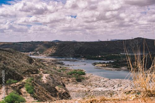 Fotobehang Bleke violet São Francisco river