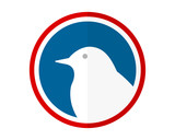 bird white image vector icon logo silhouette