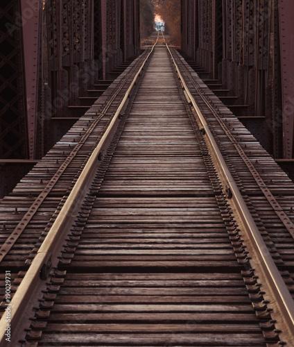 Fotobehang Spoorlijn Railroad Tracks