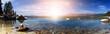 Lake Tahoe Panoramic Sunset Landscape in California