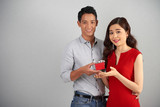Asian Couple Celebrating Anniversary - 190033941