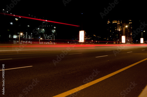 Foto op Plexiglas Dubai Car Light Travelling