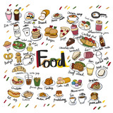 Illustration drawing style of food collection - 190041591