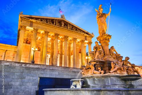 Poster Wenen Vienna, Wien - Parliament ofAustria