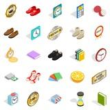 Perfection icons set, isometric style - 190051718