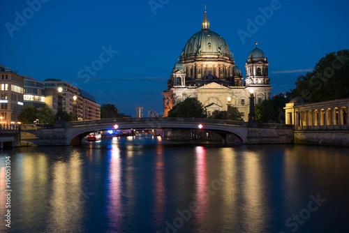 Fotobehang Berlijn Berlin Cathedral , Berliner Dom at night, Berlin ,Germany