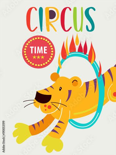 Fotobehang Vintage Poster Circus artist