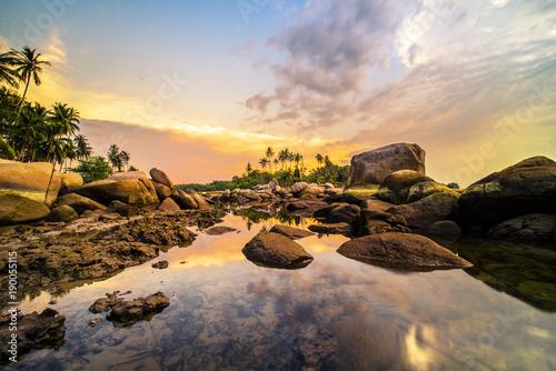 Fotobehang Zee zonsondergang Sunset View Bintan Batam Island Wonderfull Indonesia