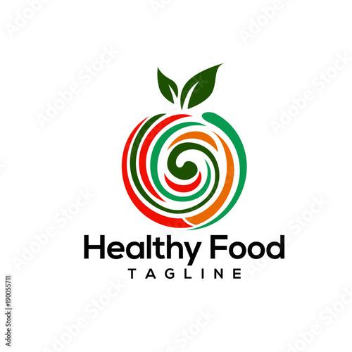 Healthy food logo design vectors - 190055711