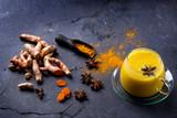 Tumeric milk with spices - 190063324