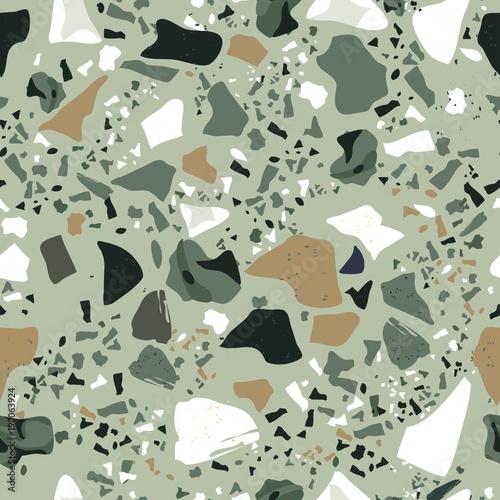 Set of Beautiful Terrazzo Seamless Pattern : Vector Illustration - 190063924