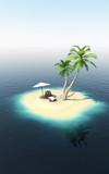 Einsame Insel 3D Illustration - 190066997
