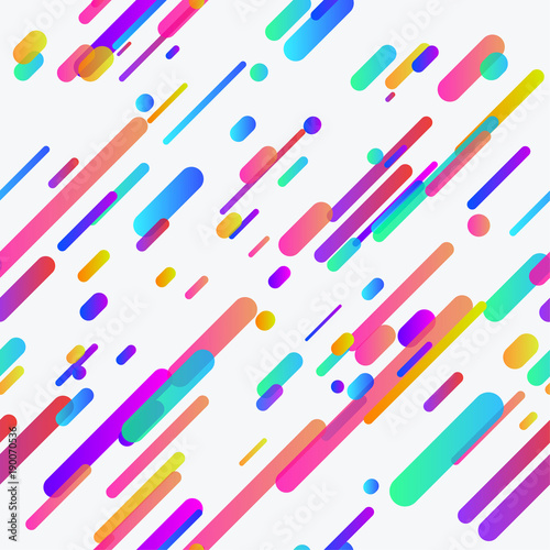 Trendy colorful neon lines seamless background template