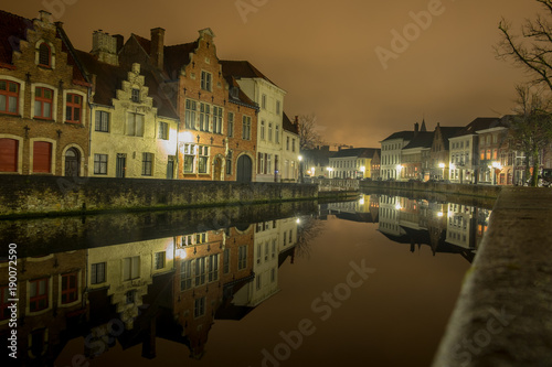Papiers peints Bruges Langerei by night - Brugge