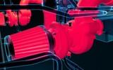 Motor Turbolader Hitze 3D Illustration - 190078132