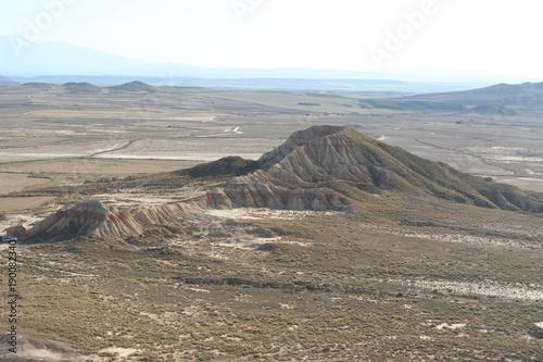 Fotobehang Grijs Bardenas Reales désert