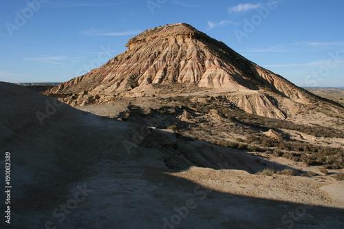 Foto op Canvas Grijze traf. Bardenas Reales désert