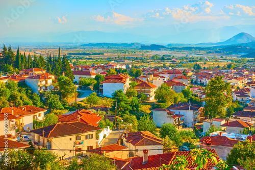 Foto op Plexiglas Pool Kalambaka town in Thessaly