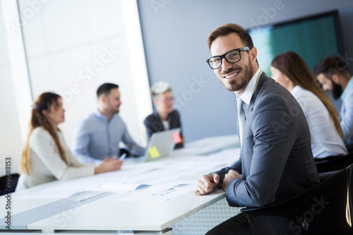 Business people conference in modern office - 190088153