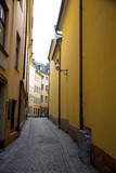 Narrow street in old town of Stockholm
