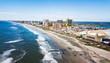 Atlantic city waterline aerial