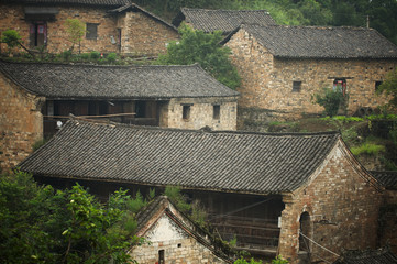 Ruins of ancient chinese village