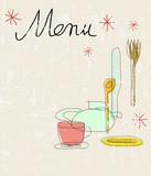 menu design template for restaurant, grunge style, vector illustration