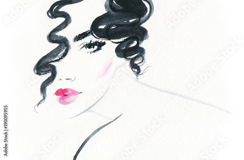 Beautiful woman. Fashion illustration.