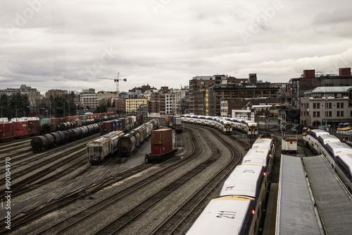 Fotobehang Spoorlijn Ferrovias,trens